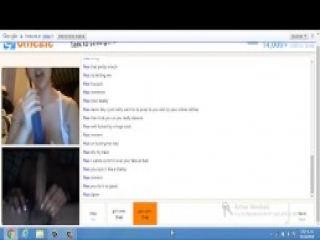 Horny bitch playing with a dildo for daddy (omegle)